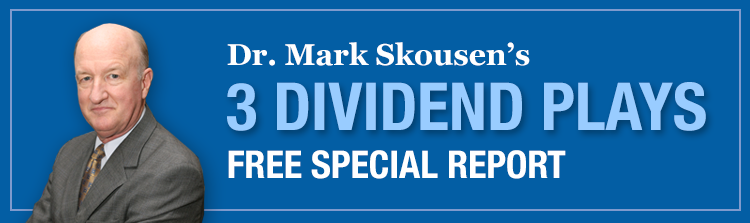 Dr. Mark Skousen's 3 Dividend Plays Free Special Report